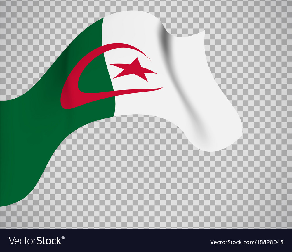 Algeria flag on transparent background vector image