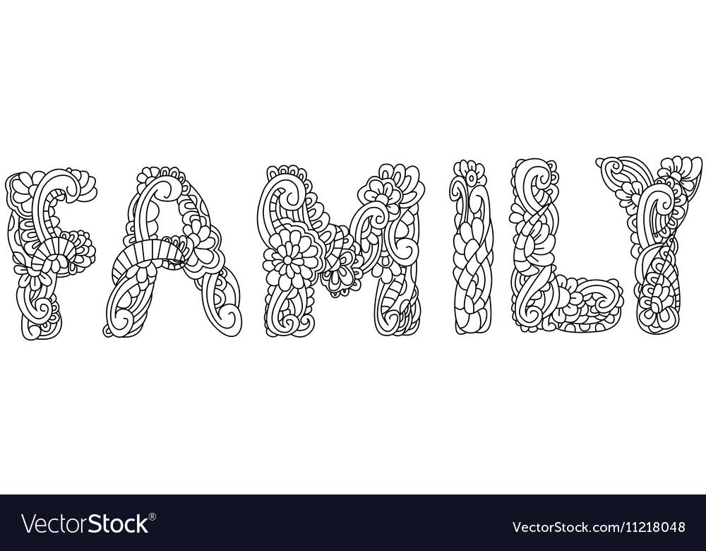 Family inscription coloring