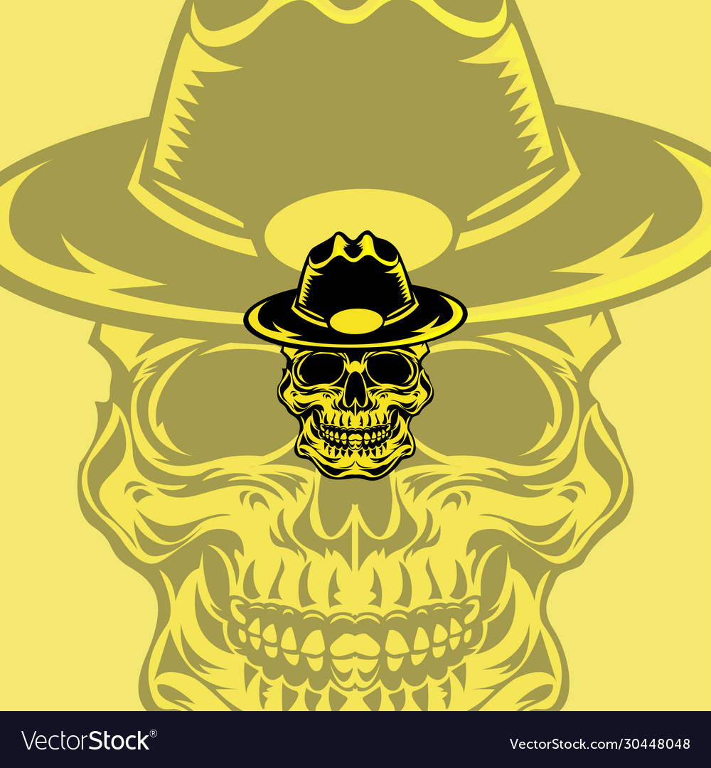 Hat skull mascot logo