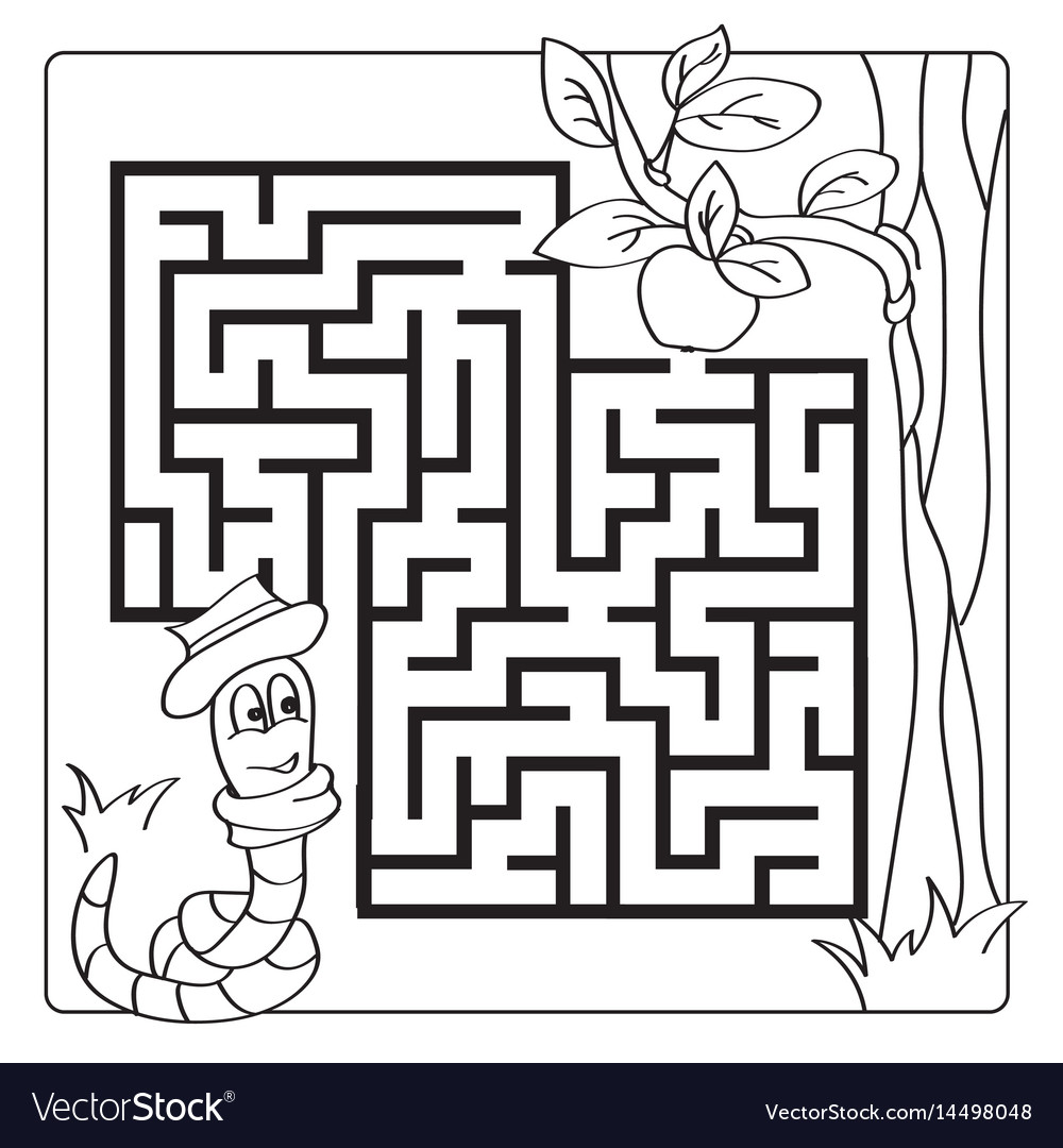 Labyrinth maze for kids entry and exit children
