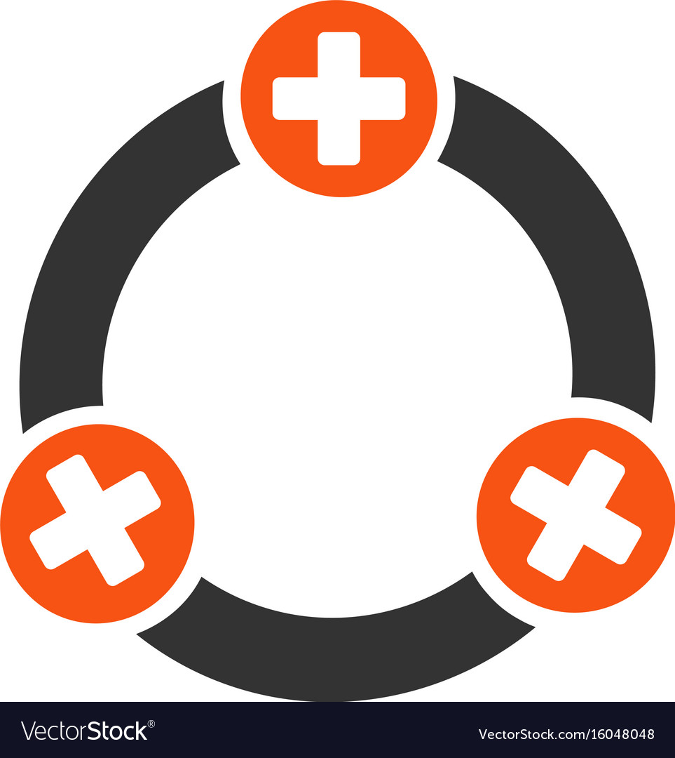 Medical collaboration flat icon
