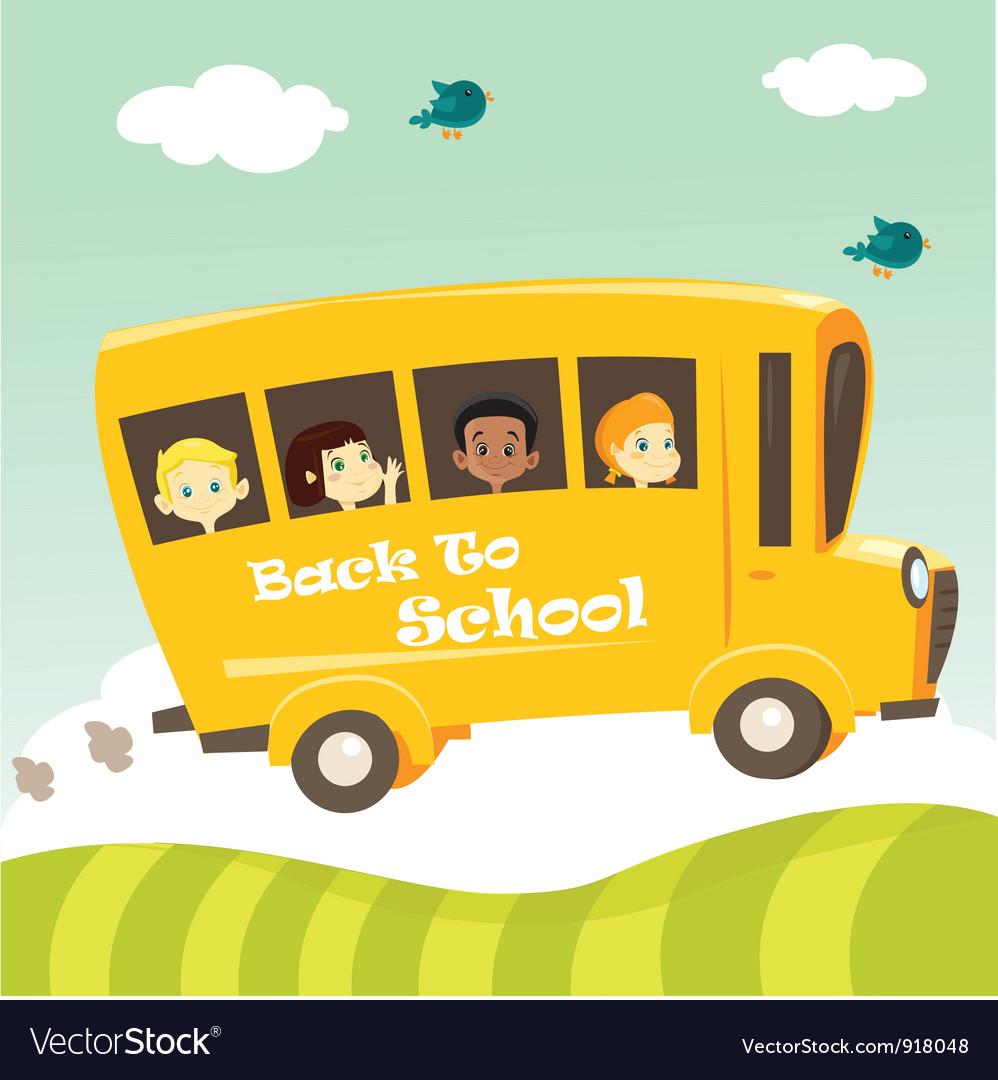 school bus royalty free vector image vectorstock rh vectorstock com school bus vector free school bus vector clipart