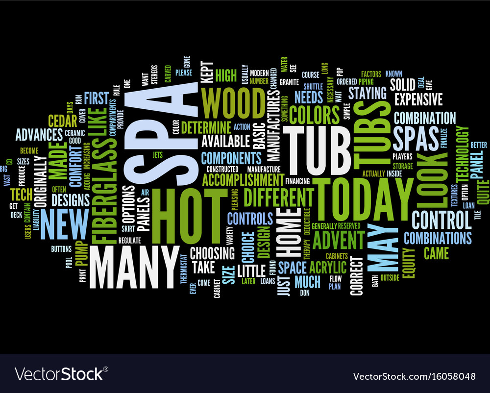 The make up of a spa text background word cloud