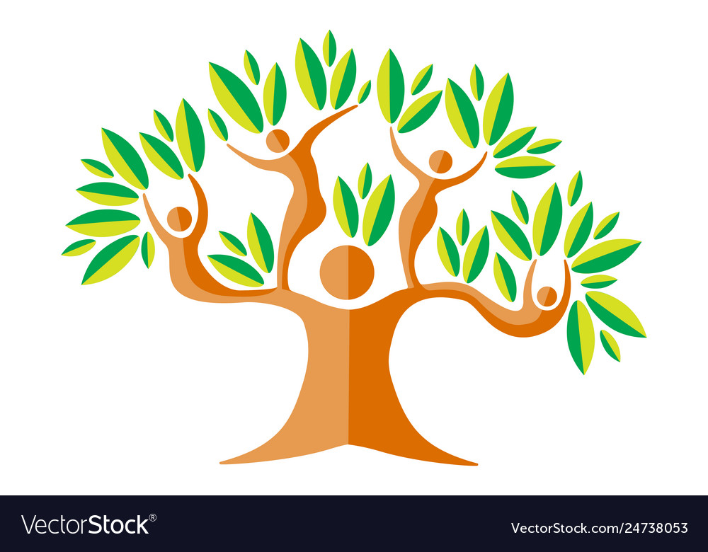 Green color family nature tree