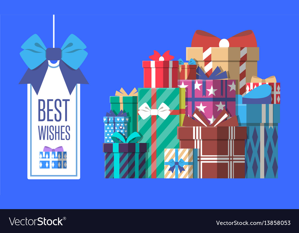 Happy birthday greeting card with gift box