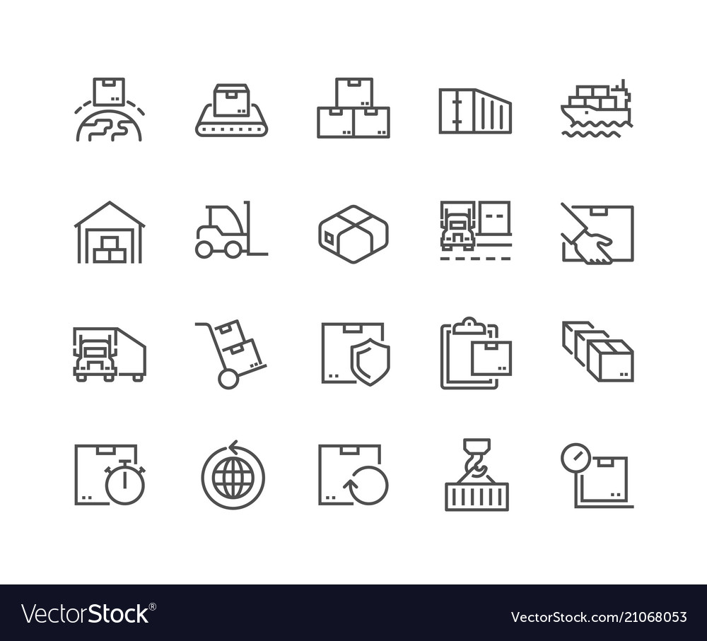 Line package delivery icons