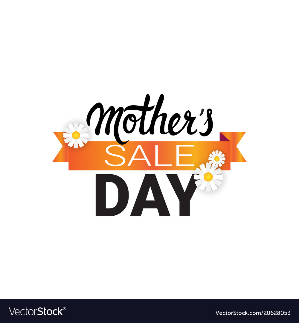 mother day sale badge isolated limited shopping vector image