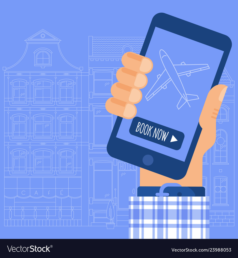 Online internet and mobile airticket booking
