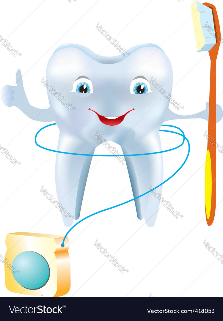 Tooth floss vector image