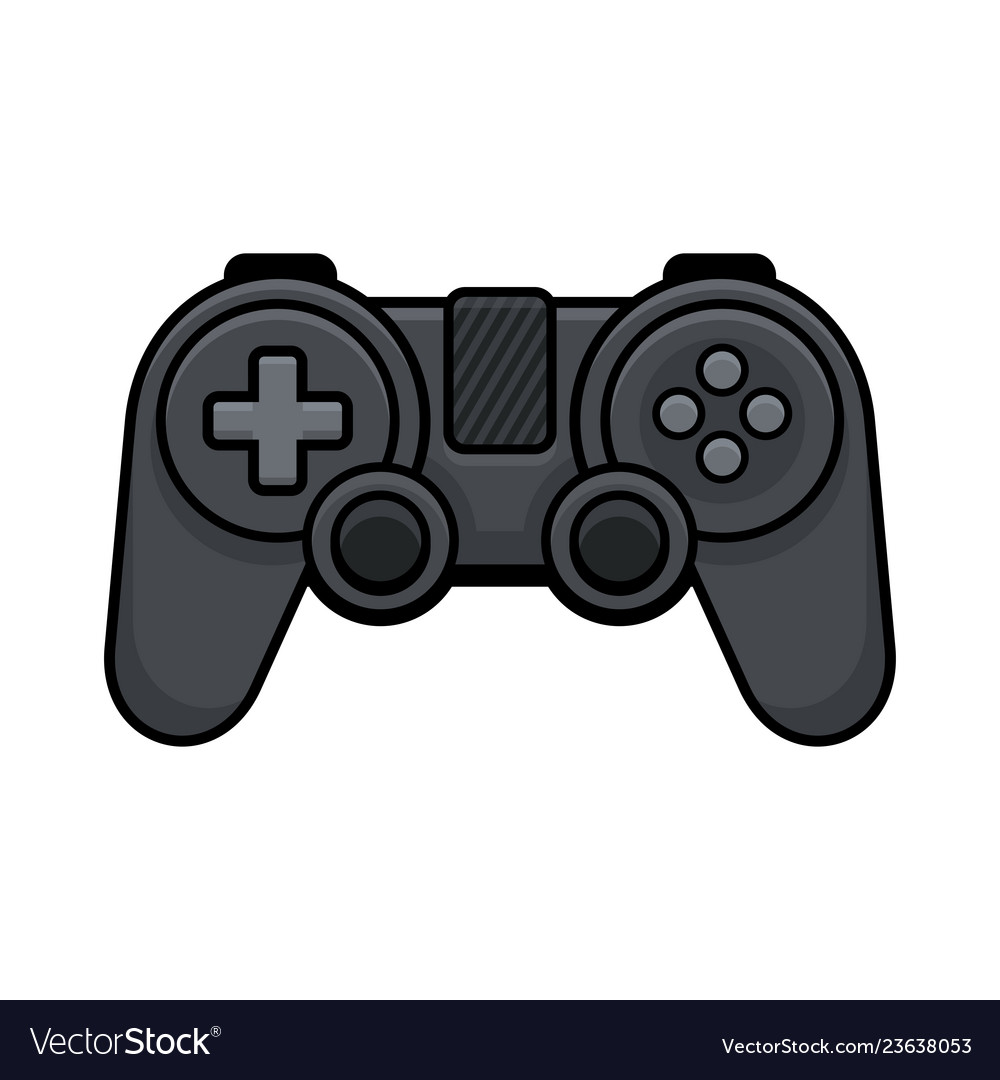 Video game controller on white background gamepad