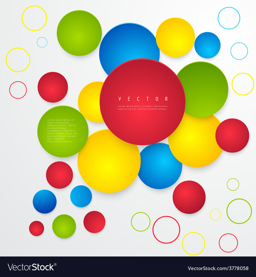 Abstract geometric shape from circles