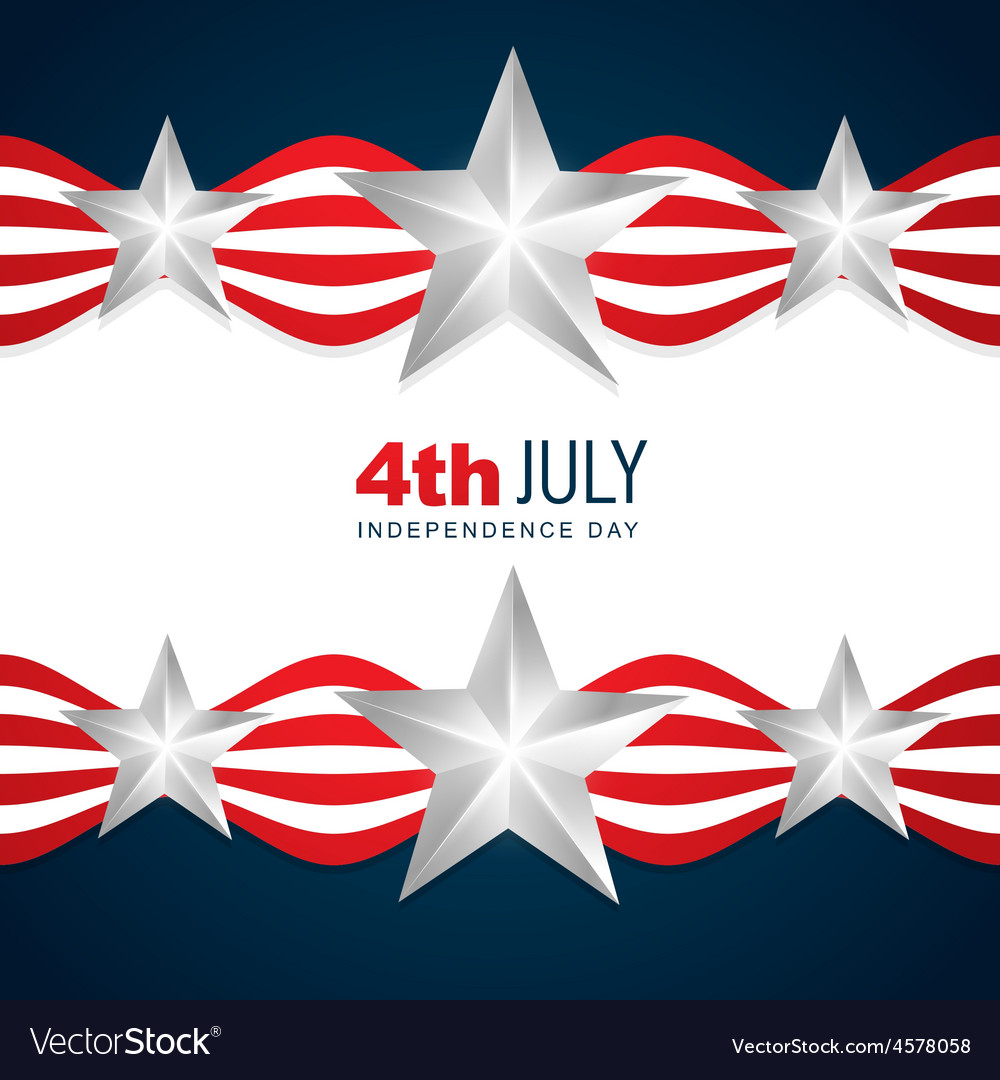 Beautiful American Independence Day Royalty Free Vector