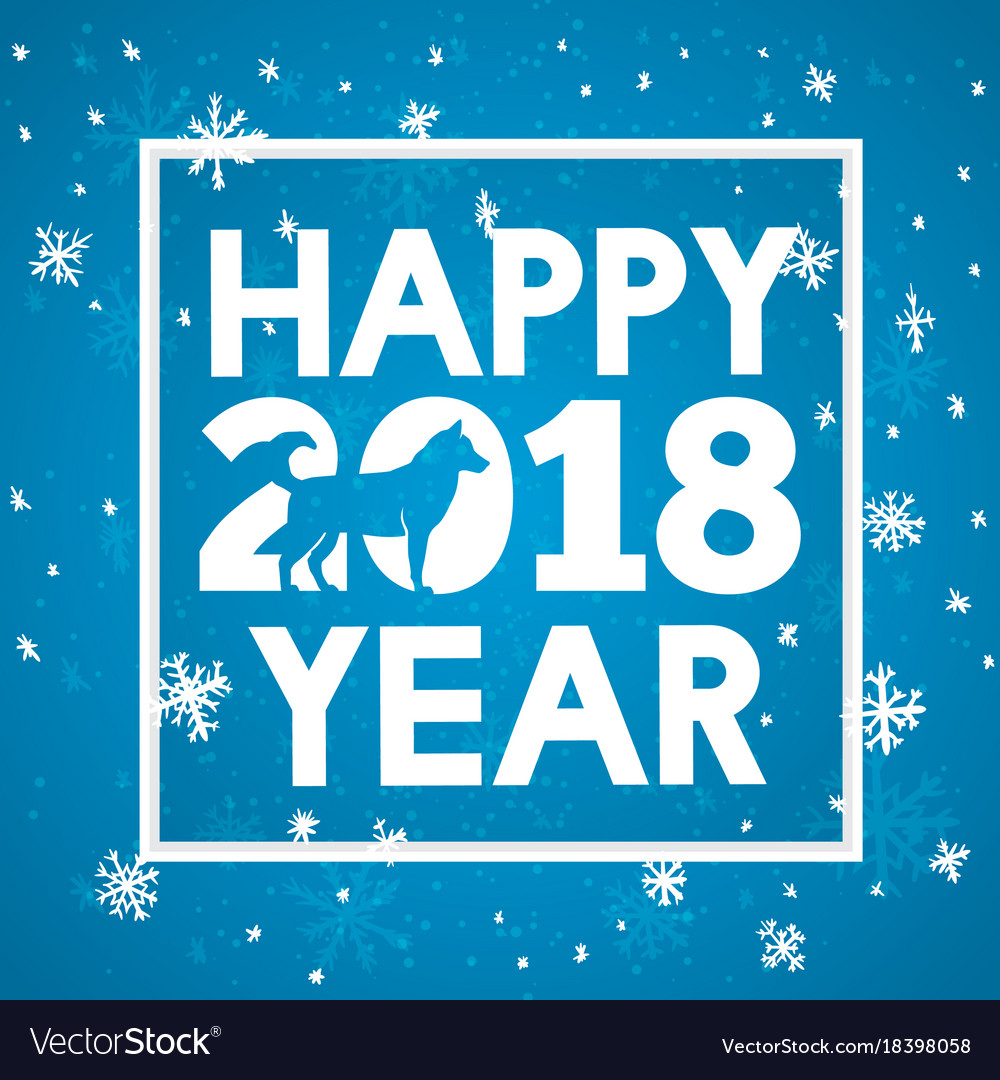 Calligraphy merry christmas and happy new year vector image