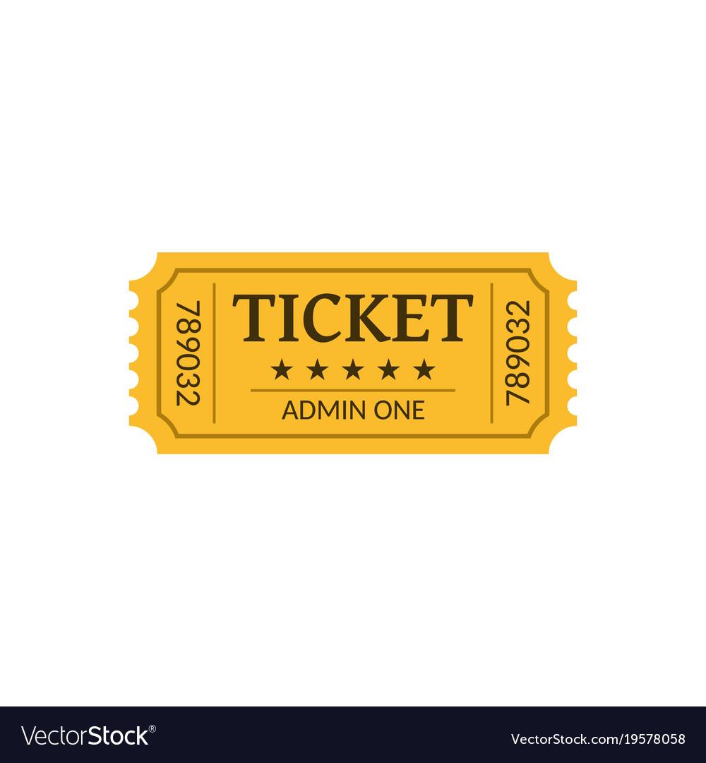 Cinema ticket isolated on white retro style