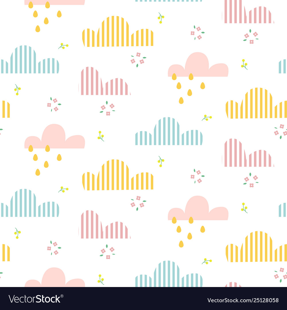 Cloud pattern cute sky seamless background