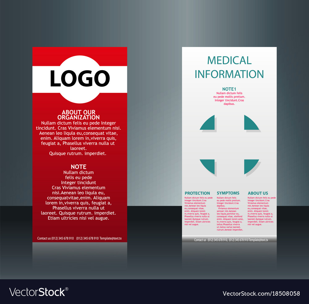 collection of 2 abstract medical business cards vector image - Medical Business Cards
