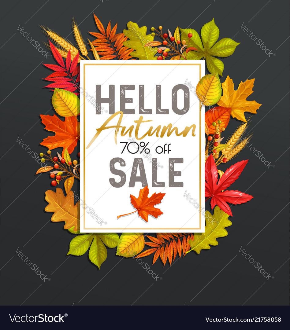 Seasonal autumn sale banners
