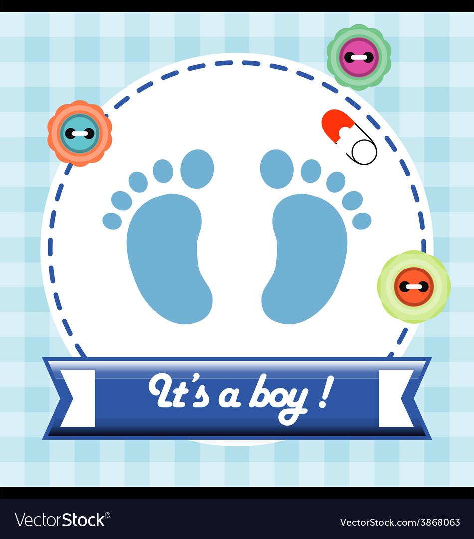 Baby shower invitation card