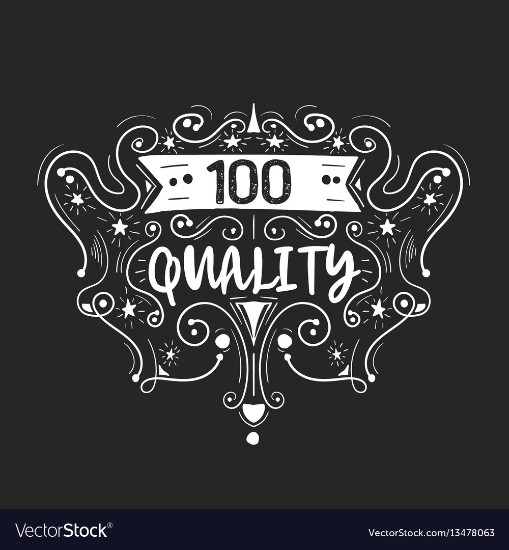 Best quality hand drawn label vector image