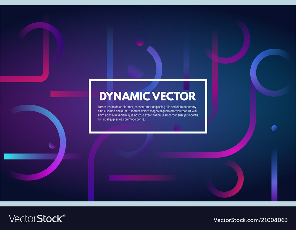 Gradient dynamic line background vector image