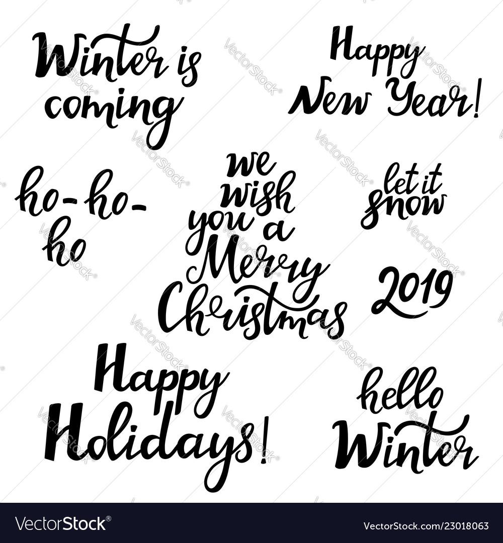 Merry christmas happy new year 2019 hello winter