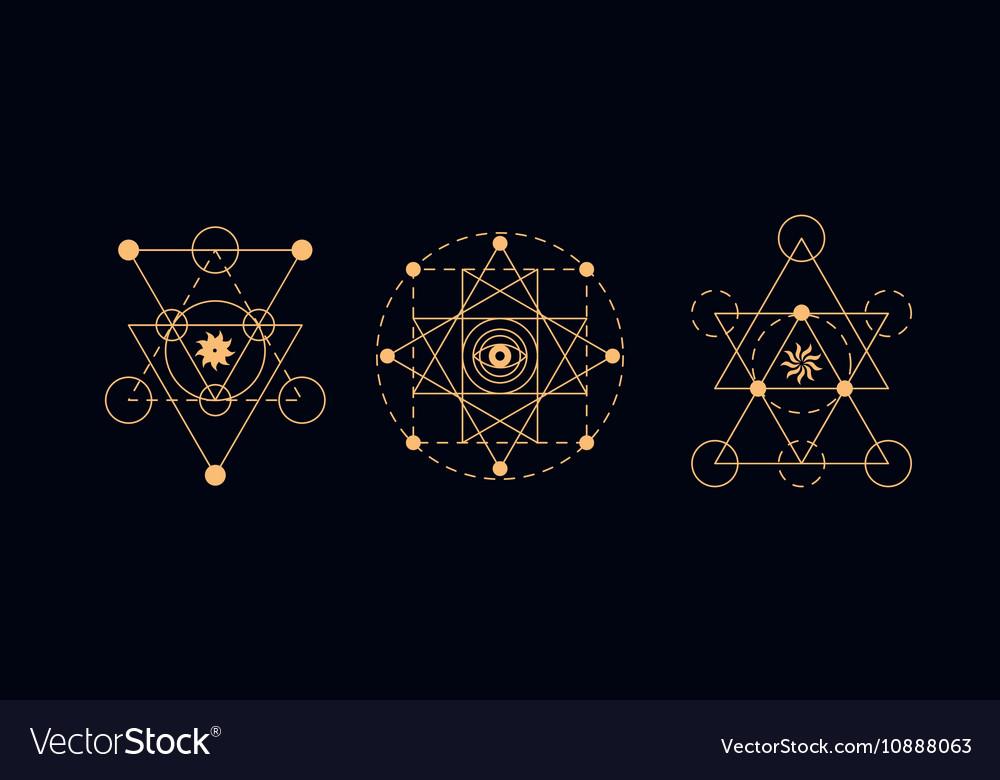 Sacred geometry alchemy symbols