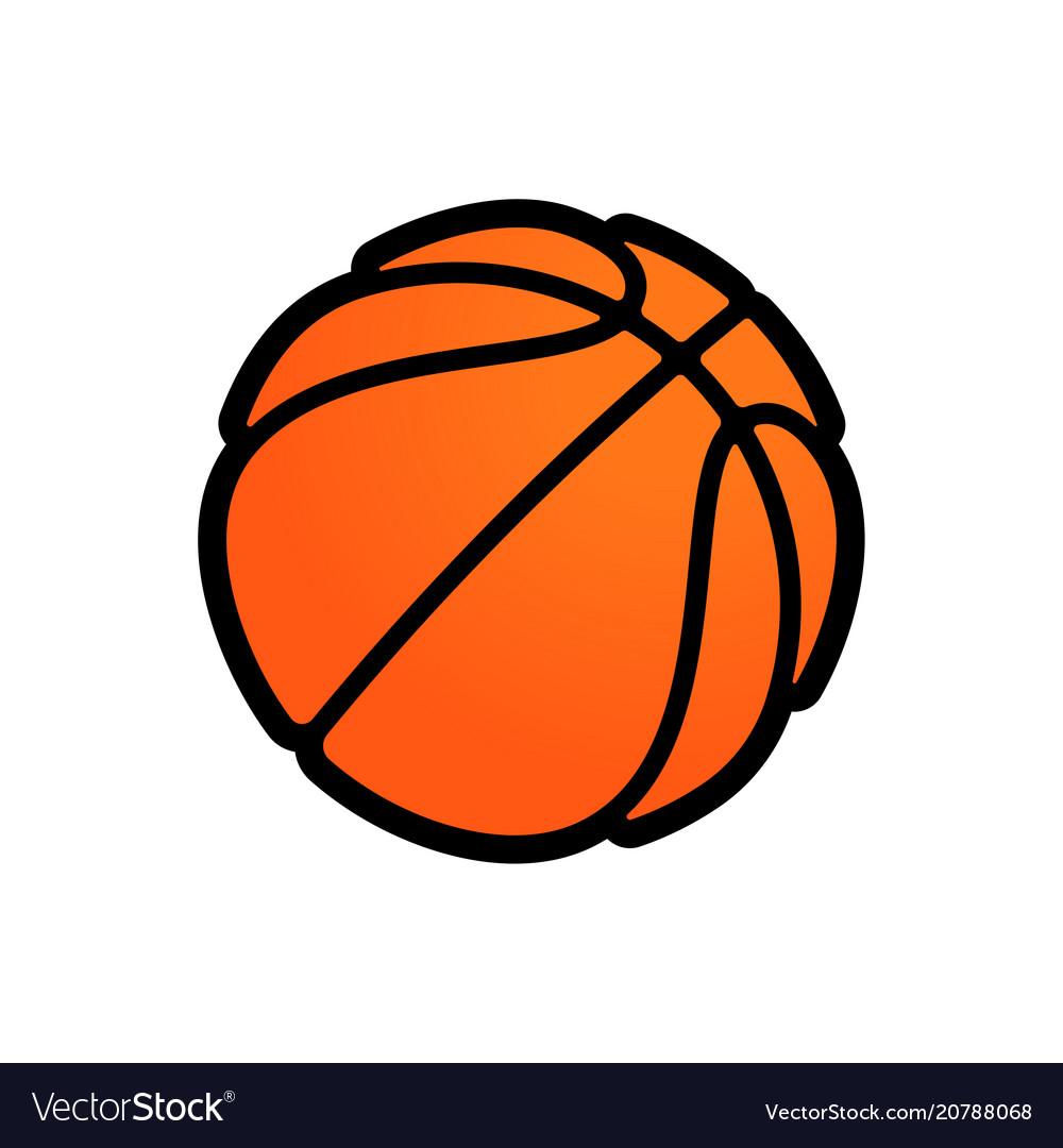 basketball logo icon streetball royalty free vector image