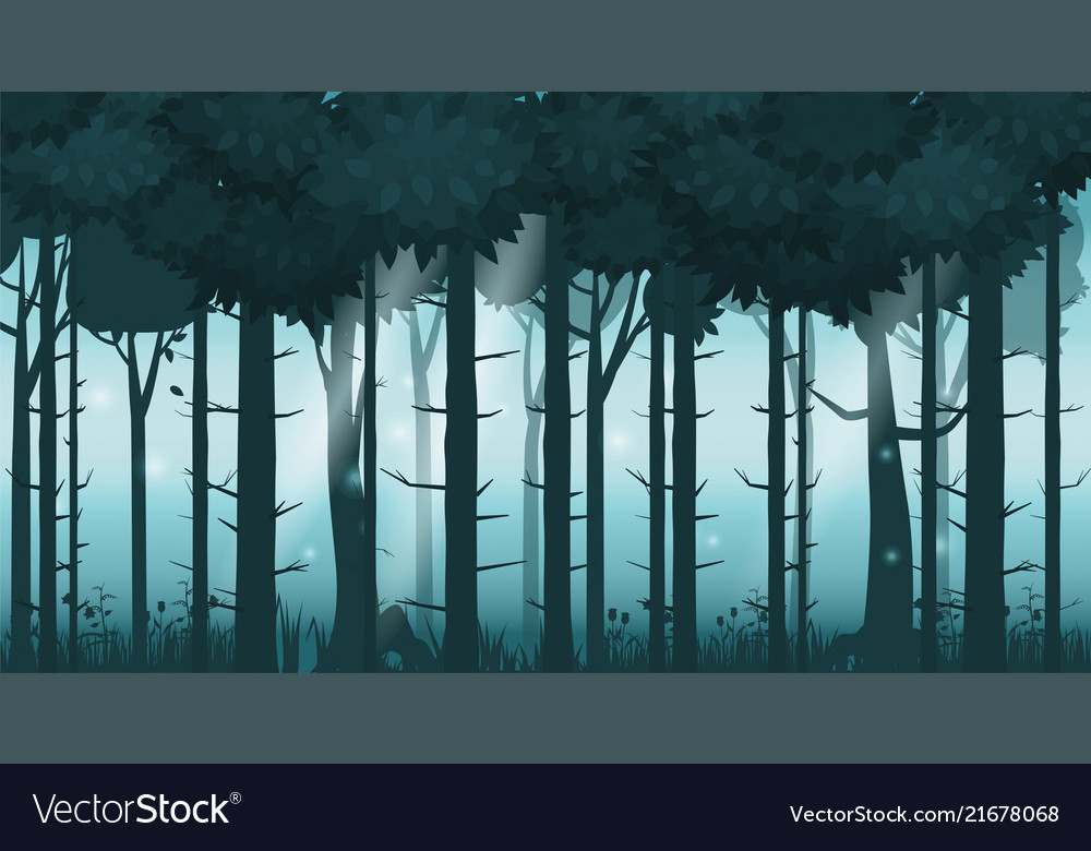 Cartoon of background forest bright