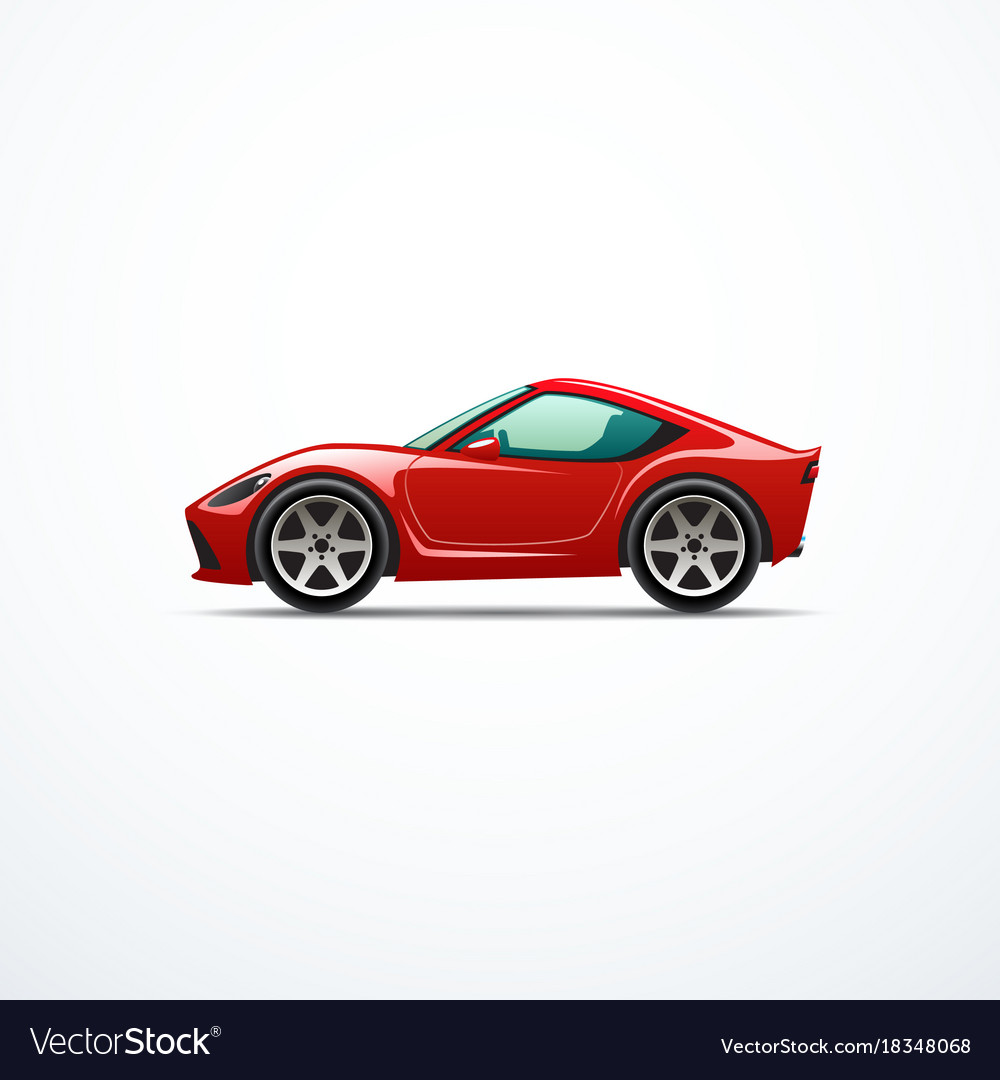 Cartoon Sport Car Royalty Free Vector Image Vectorstock