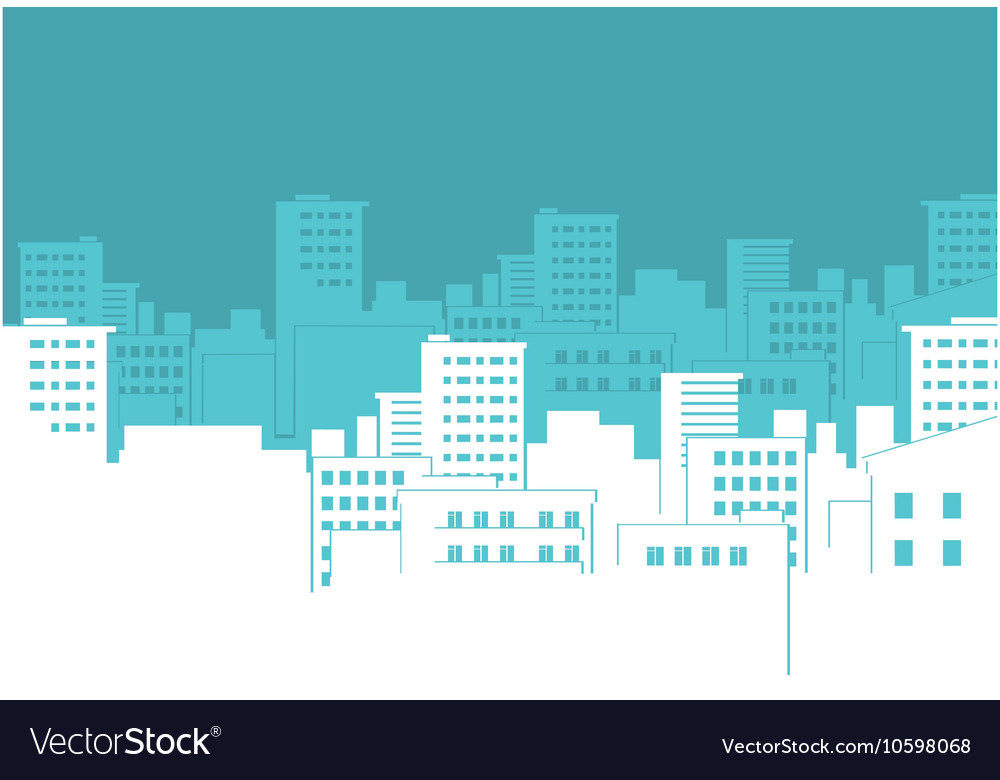 City silhouette background