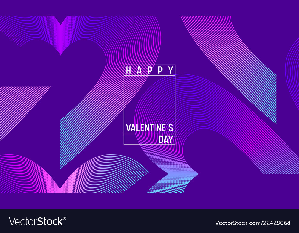 Creative geometric hearts wallpaper valentines day