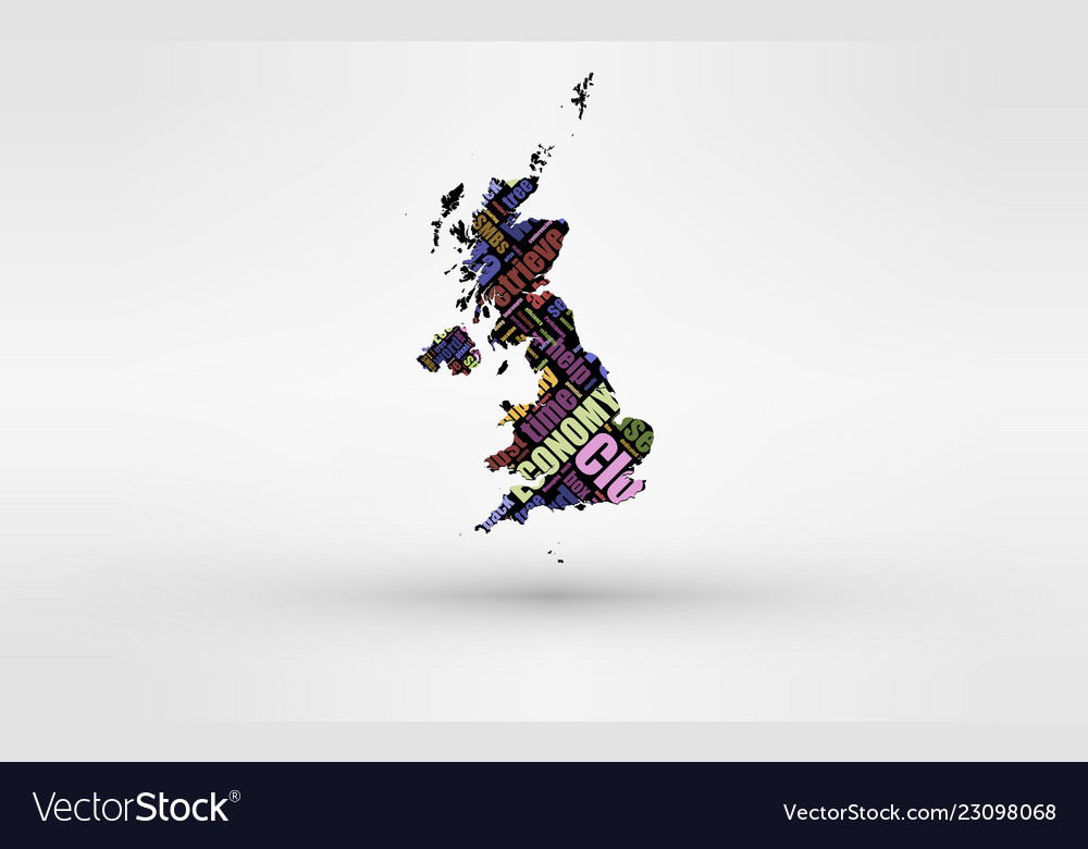 Britain England Map.Map Of Great Britain England Wales Scotland Vector Image