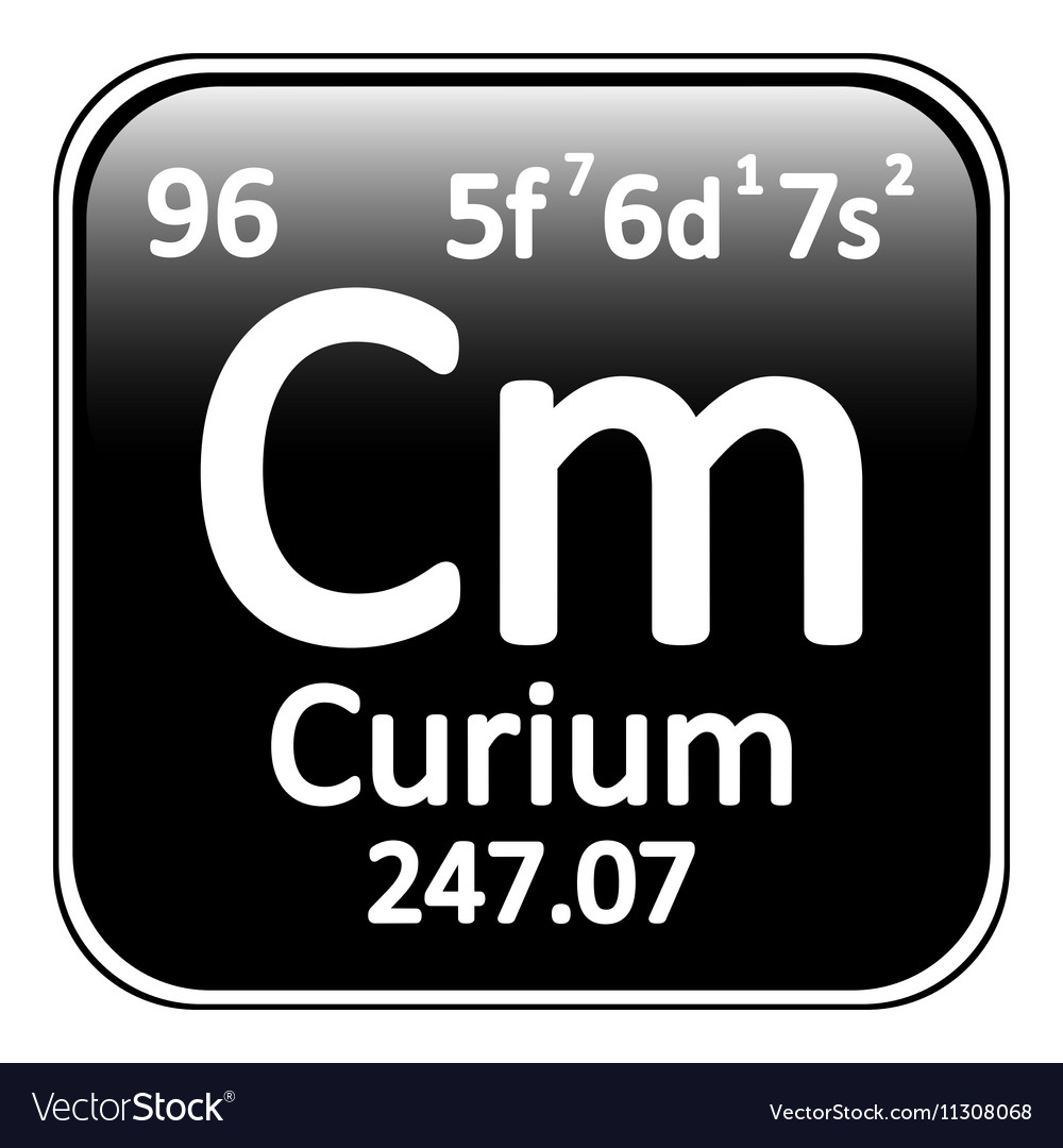 Periodic table element curium icon