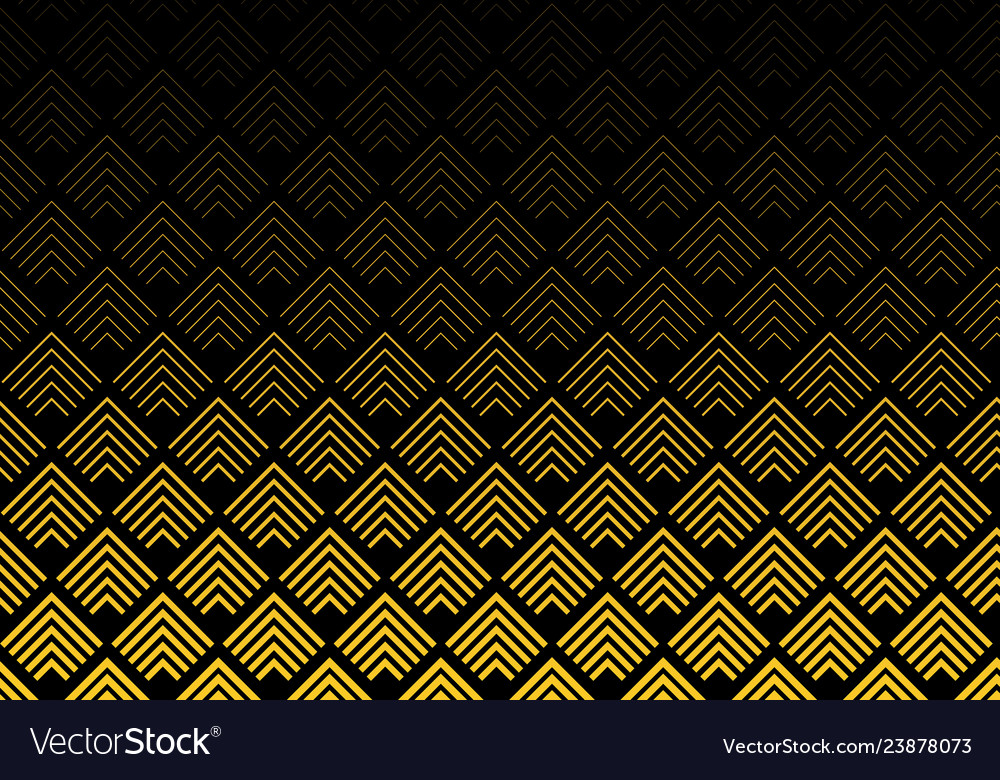 Abstract gold color chevron lines pattern on