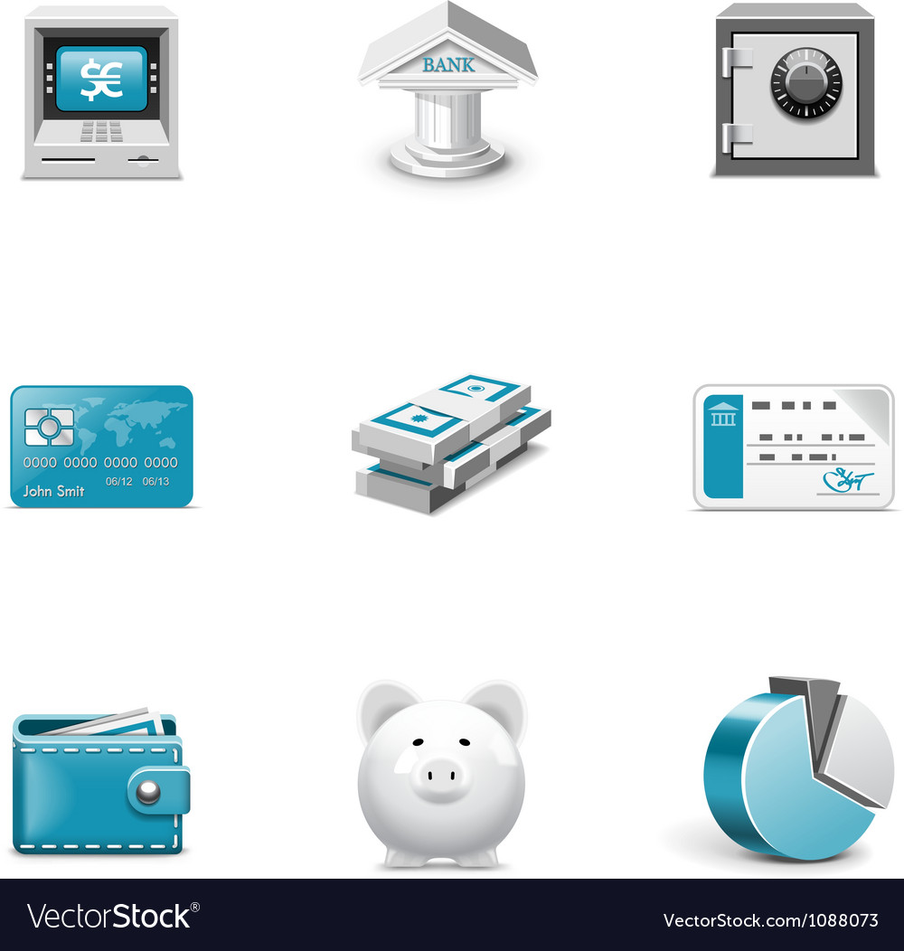 Bank and finance buttons