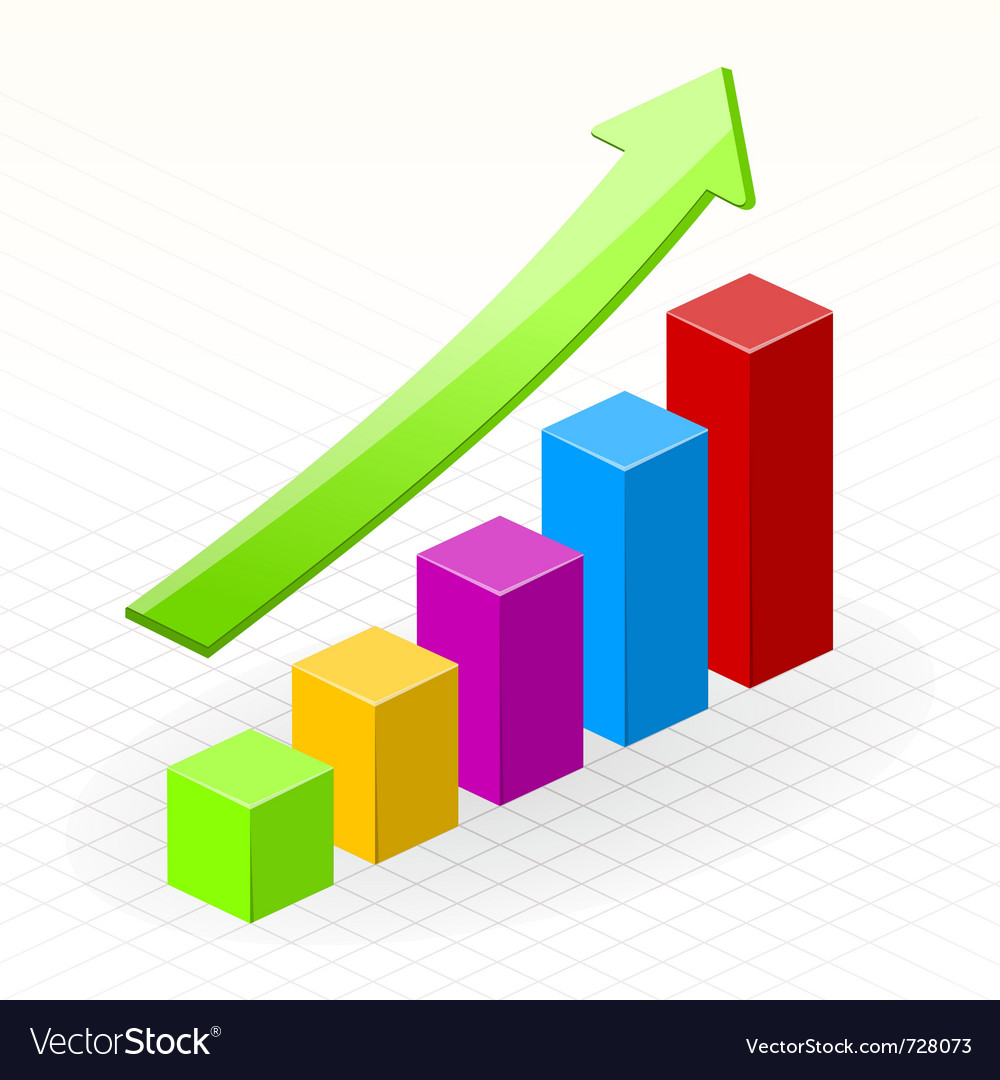 Business growth success chart vector image