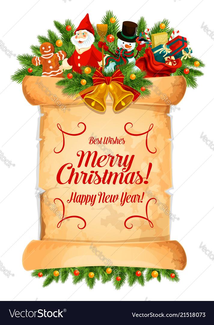 Christmas new year winter holiday greeting