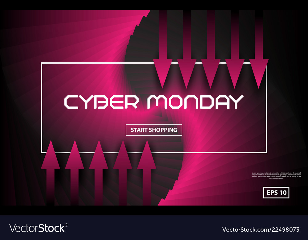Cyber monday sale techno style black and