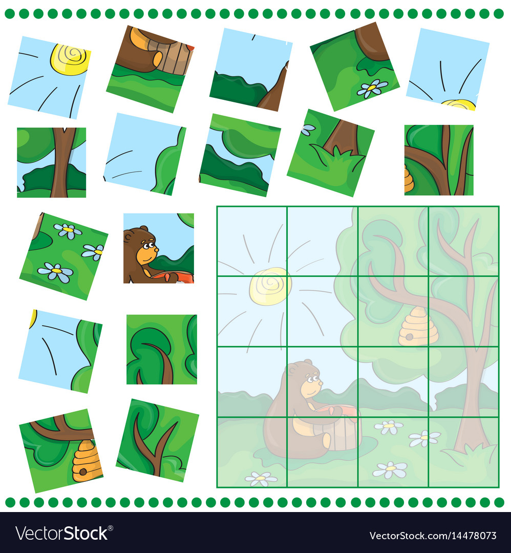 Education puzzle game for children