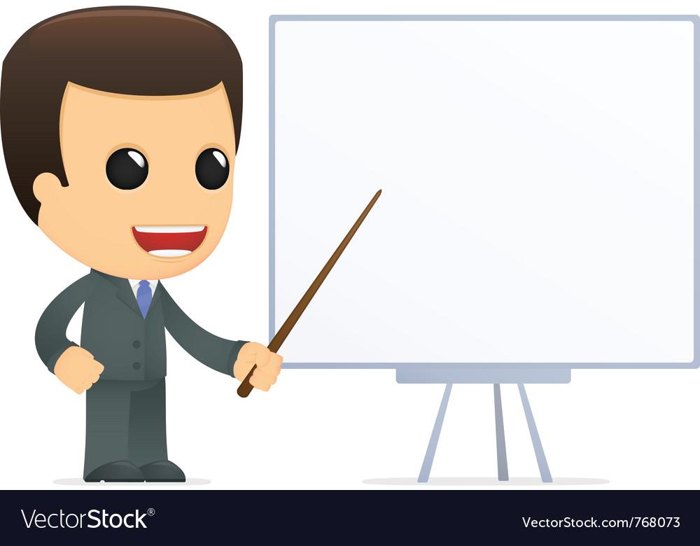 Funny cartoon boss