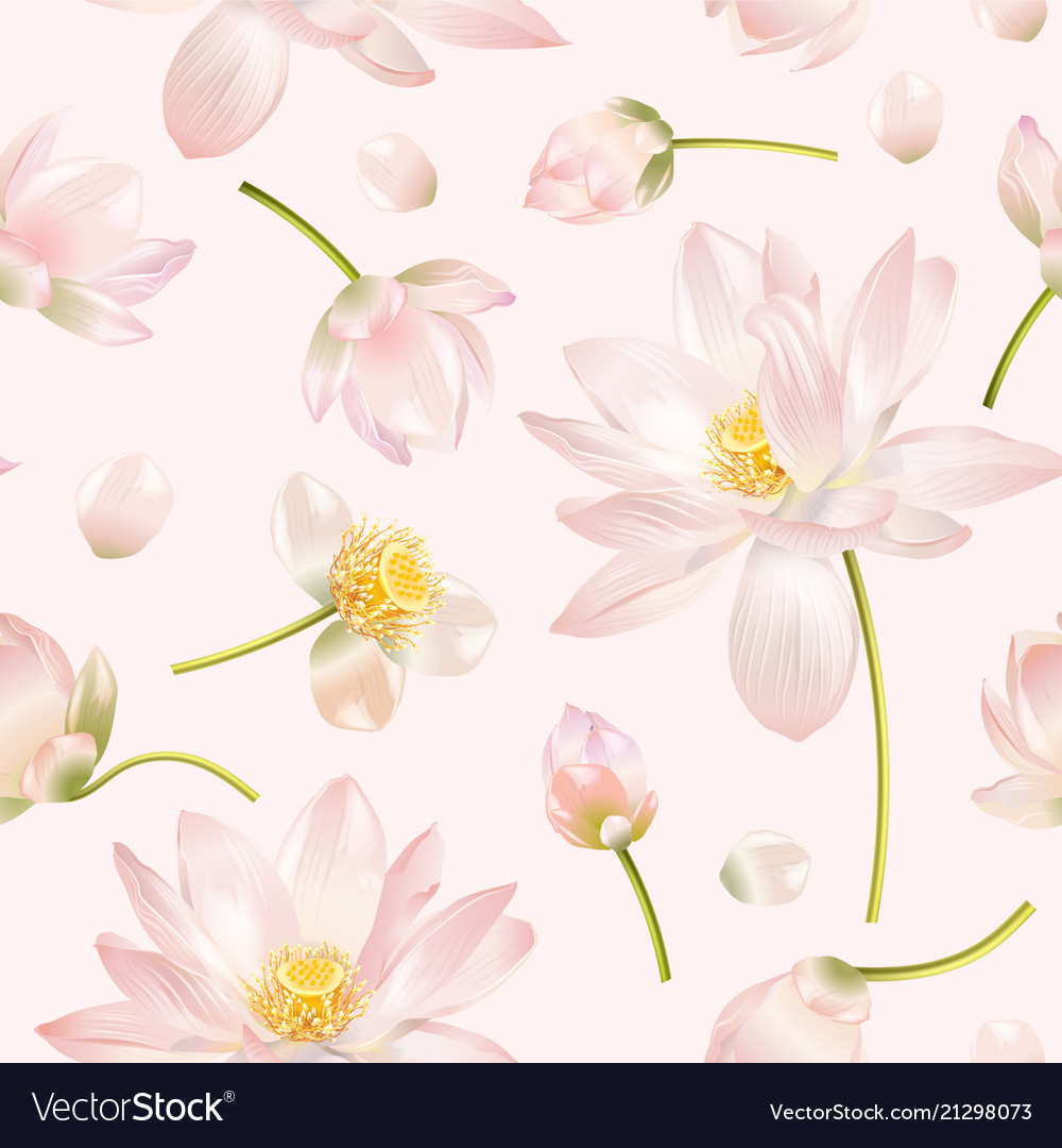 Lotus flower pattern royalty free vector image lotus flower pattern vector image izmirmasajfo