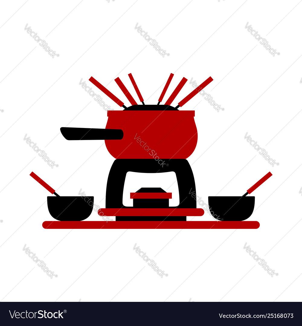 Melting Fondue Pot Set With Bowls