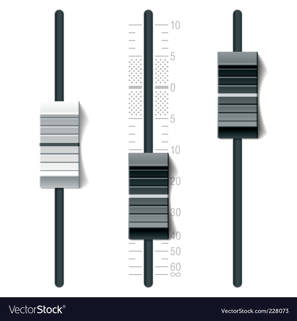 Mixing console vector image