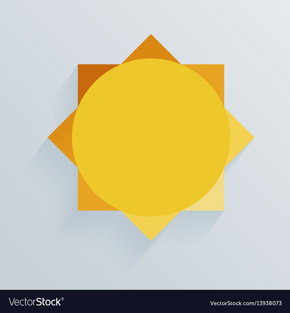 Paper sun whith shadow background