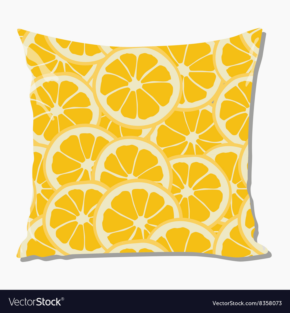 Pillow with orange pattern