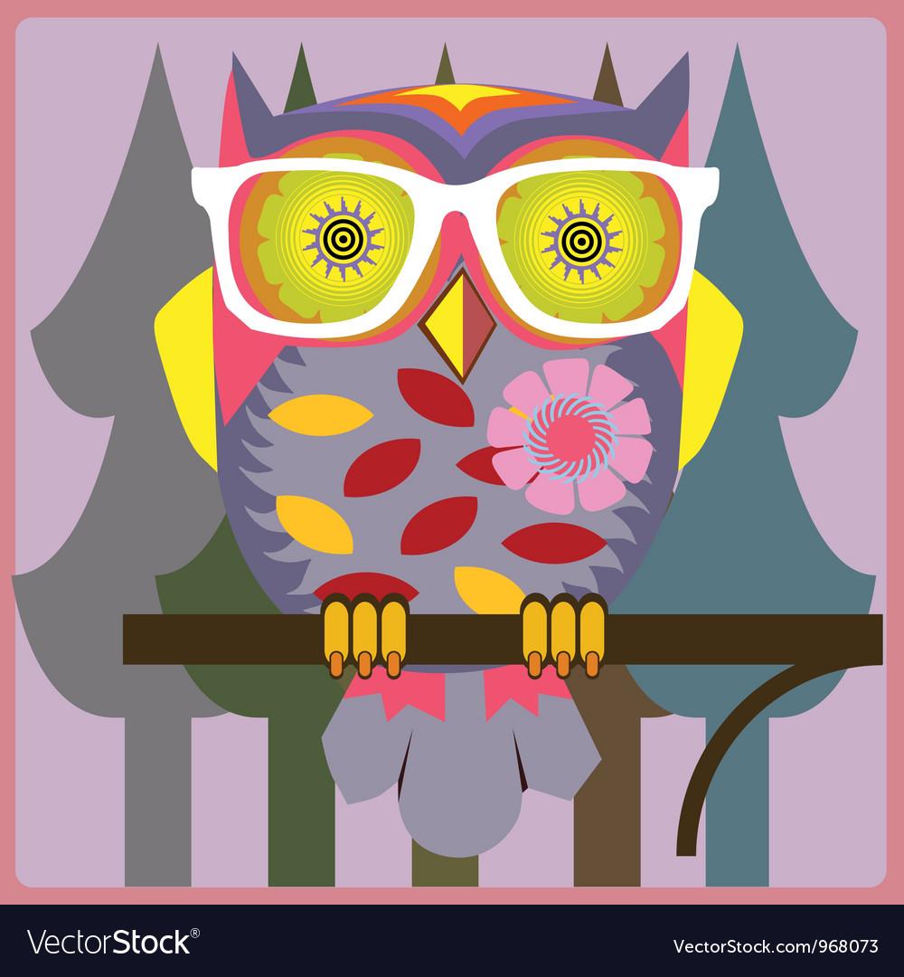 Vintage owl vector image