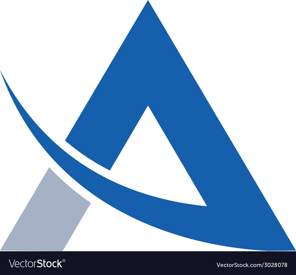 Abstract letter a