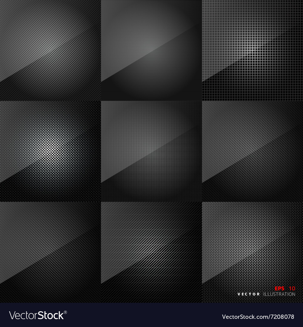 Carbon fiber texture Abstract backgrounds set