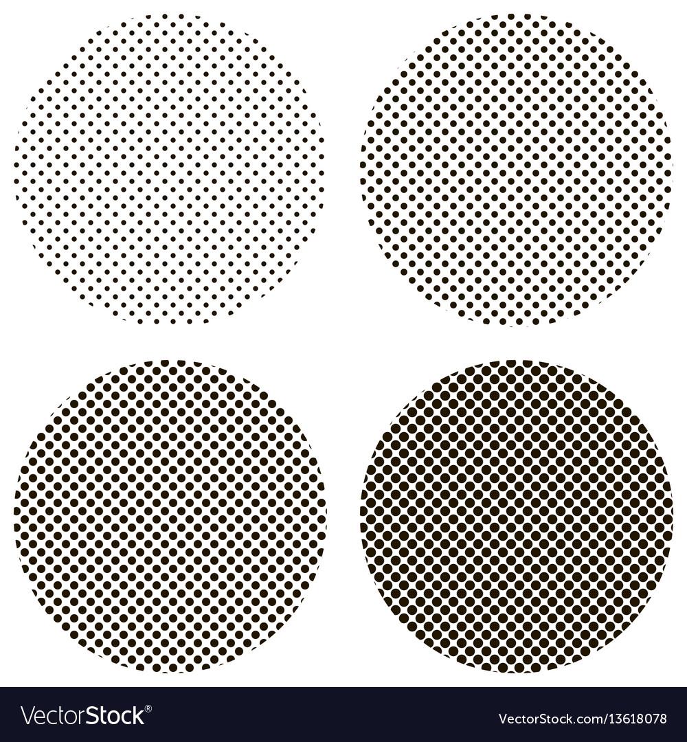 Circle dots pattern pop art