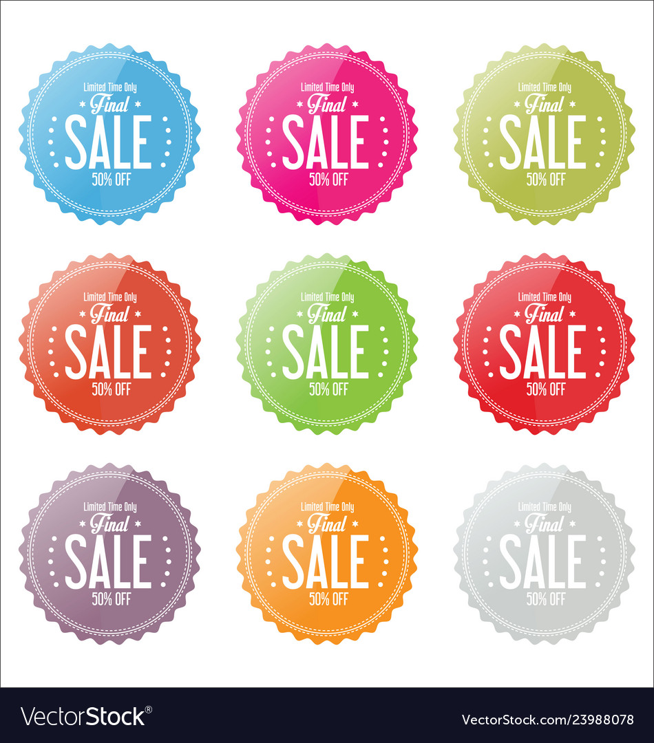 Final sale colorful stickers collection